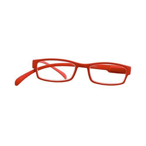 Klammeraffe - Fertiglesebrille (bright red, 2,00)