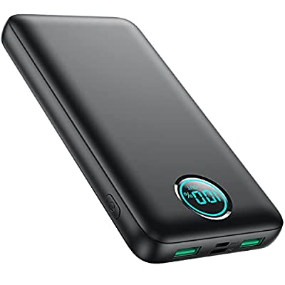 iPosible Power Bank 30800mAh, 25W PD + QC 4.0 Fast Charging Portable Charger, LCD Display USB C Power Banks External Battery Pack Compatible with iPhone 12 11 Samsung S20 S10 iPad etc