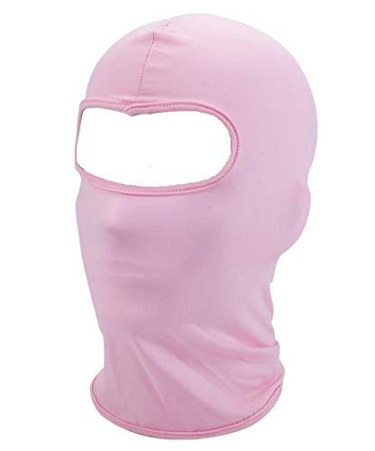 Pasamontañas esquí Ciclismo Escalada Mujer térmico Máscara Facial Rosa protección de Viento frío y Nieve para Deporte al Aire Libre Transpirable Balaclava multifunción
