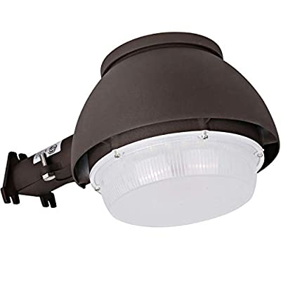 Hykolity LED Barn Light 70W, 9800lm Dusk to Dawn Yard Light with Photocell, Outdoor Security/Area Light, 250W-400W MH/HPS Replacement, 5000K Daylight, Dark Bronze Finish, ETL & DLC Listed