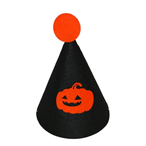 Molinter Kinder Hut Halloween Hexenhut Magic Party Cosplay Kostüm Zusatz Spitzer Hut für Junge Mädchen Student (Schwarz)