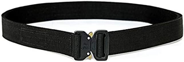 "WOLF TACTICAL Heavy Duty Quick-Release EDC Belt - Stiffened 2-Ply 1.5"" Nylon Gun Belt for Concealed Carry, Holsters, Pouches, Military Training"
