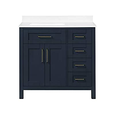 Ove Decors Maya 36 Kit Single Sink Bathroom Vanity, in Midnight Blue