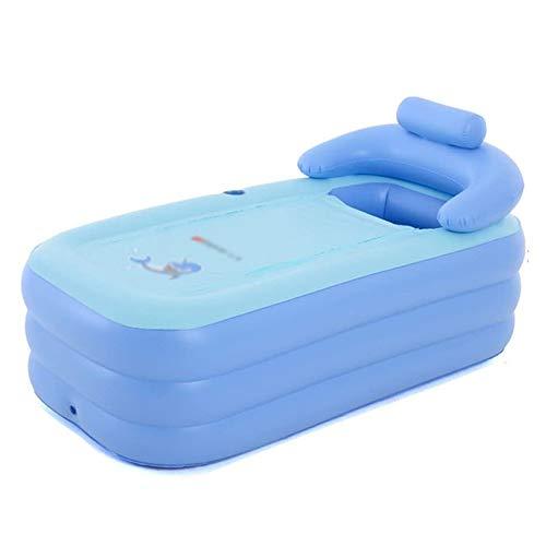 ZTKBG opblaasbare badkuip voor kinderen, opvouwbaar, warm, dik, badkuip met instap (maat: 160 cm)