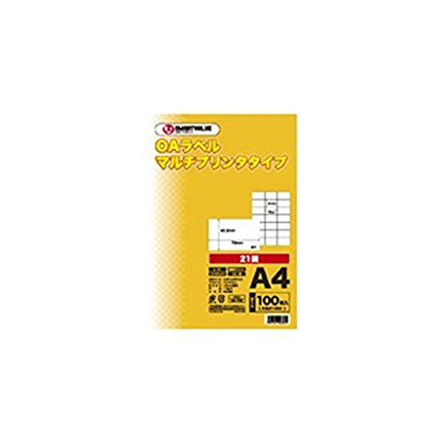 (まとめ買い)ジョインテックス OAマルチラベル 21面 100枚 A240J 【×2セット】