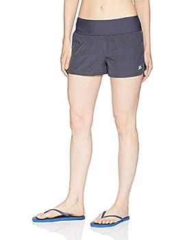 ZeroXposur Women s Swim Hipster Short with Brief Slate 10
