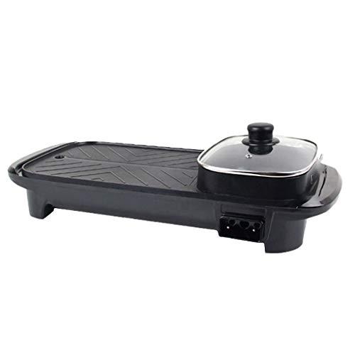 GXFCH SHOP Tragbarer Elektrischer Grill,1300W 220V Elektrischer Pan Hot Pot BBQ Kochgrill,Barbecue Hot Pot Design, Für Innen Im Freien