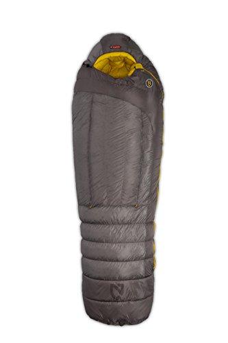 NEMO Sonic 0-Degree Down Mummy Bag, Granite/Sunburst Yellow, Long