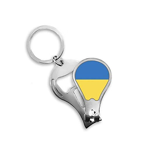 DIYthinker Oekraïne Nationale Vlag Europa Land Toenail Clipper Cutter