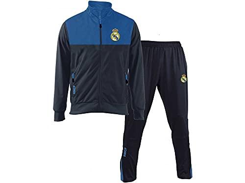 Chándal oficial del Real Madrid 2018-2019 en blíster chaqueta y pantalón original para adultos y niños (S)