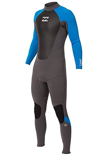 BILLABONG 2016 Intruder 4/3mm Back Zip GBS Wetsuit Graphite/Blue O44M10 Sizes- - Medium