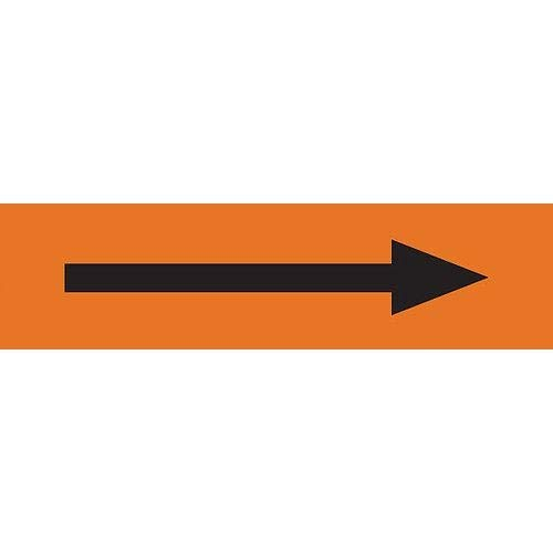 GHS Safety PM1330VE Super sale Attention brand period limited Pipe Marker Orange Arrow Black with Long
