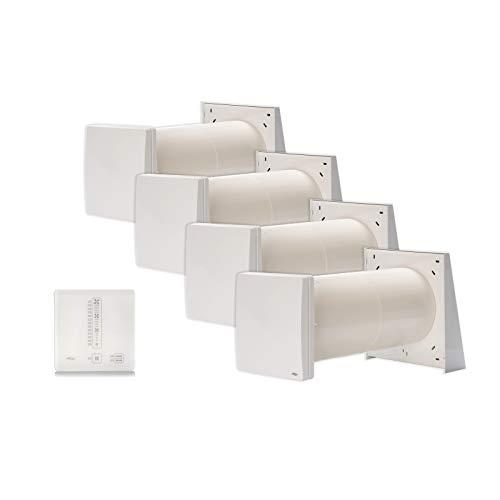 InVENTer iv14R decentrale ventilatieapparaat met warmteterugwinning compleet pakket met vier ventilatoren en regelaar sMove s4