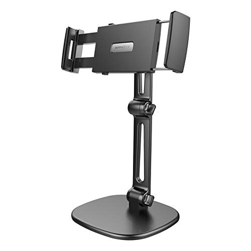 APPS2Car [2020 Upgraded] Tablet Holder for Desk, Adjustable Desk Tablet Stand with 360 rotatable head, 3x adjustable bars for 7-11 inch tablet, Compatible for iPad mini/9.7/10.2/10.5 and more