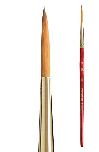 Princeton Heritage, Series 4050, Synthetic Sable Paint Brush for Watercolor, Liner, 6