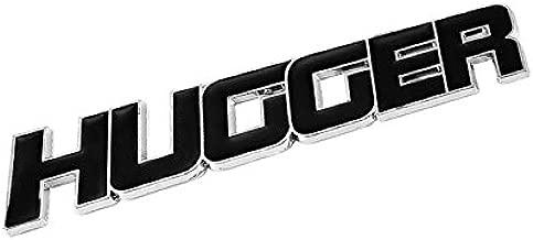 UrMarketOutlet Hugger Black/Chrome Aluminum Alloy Auto Trunk Door Fender Bumper Badge Decal Emblem Adhesive Tape Sticker