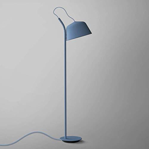 CLJ-LJ E27 Nordic simple Suelo de madera de la lámpara creativa moderna dormitorio caliente lámpara de mesita de noche estudio azul lámpara de pie 138 x 25 cm 0706P