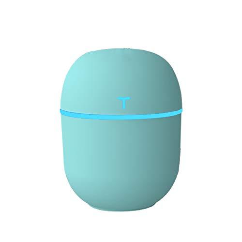 TOOGOO Humidificador UltrasóNico USB 3 en 1 con IluminacióN LED Ultra Silencioso Vaporizador de Escritorio para Oficina en Casa Coche Verde