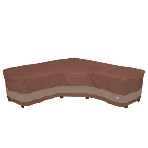 Duck Covers Ultimate Waterproof 100 Inch V-Shape Sectional Lounge Set Cover
