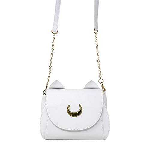 Close Up Artemis Moon Handtasche | Tasche in Katzen-Look mit Katzenohren | Kunstleder | weiß