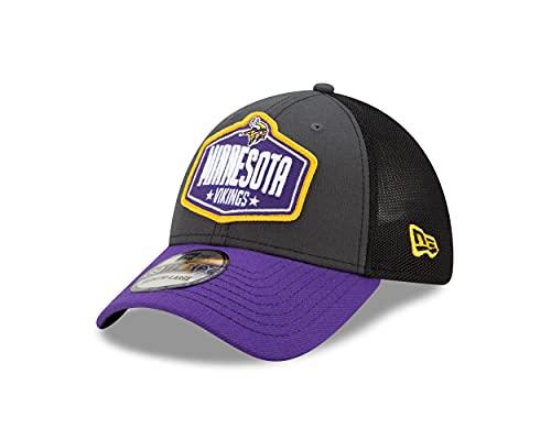 New Era Minnesota Vikings NFL 2021 Draft 39Thirty Stretch Cap - M - L