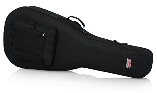 Gator Cases Lightweight Polyfoam Guitar Case For Dreadnaught Style Acoustic Guitars; (GL-DREAD-12)