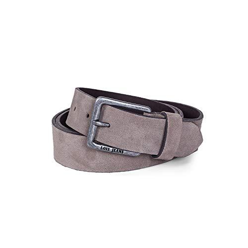 Lois - Cinturon Piel Serraje Ante Cuero Hombre Mujer. Hecho en ESPAÑA. Marca 35 mm Ancho. Talla Ajustable 49809, Color Taupe
