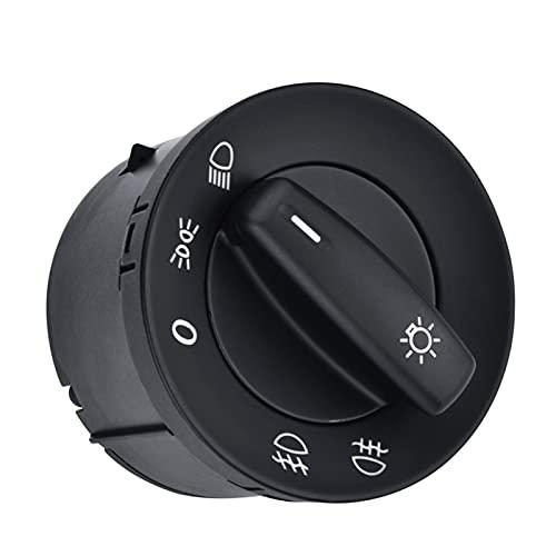 XINGXING WTQEE Store Interruptor de la lámpara del Interruptor de la luz del Interruptor Interruptor de Control de la Perilla para VW Volkswagen Golf 5 6 Caddy Jetta TOURAN Passat B6 B7 CC 1K0941431N