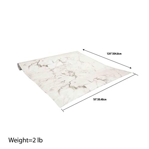 Home Basics Self Adhesive Shelf Liner, 2 Pack (Marble White)