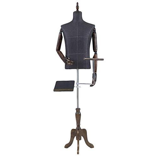 ZBM-ZBM Mannequin Menselijke Torso Mannelijk Model Dummy Half-lengte, Met Een Statief Stand Flexibele Arm Voor Jurk Schoenen En Broeken Vorm Van Mode Show Kleding mannequin