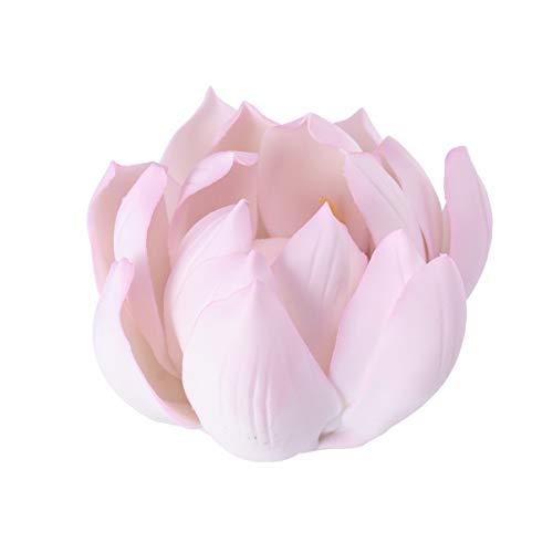 VOSAREA Fleur Porte-encens Lotus en céramique brûleur d'encens Porte-encensoir Support cendrier bac à la Main décorations pour la Maison Rose