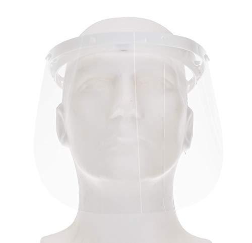 Fredo® CE Zertifiziertes Gesichtsschutz Visier aus Polycarbonat -1 X Halter mit je 2 Wechselfolien - Face Shield - Aufklappbares Gesichtsvisier -...