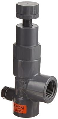 "Hayward PVC Pressure Relief Valve, EPDM Seal, 5 to 75 psi Pressure Range, 3/4"" Threaded from Hayward"