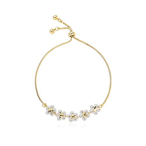 SSN Zircon Petal High Sense Bracelet Female Bracelet Zirconium Diamond Star Flower Bracelet Girlfriend Korean Bracelet