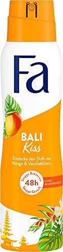 Fa Deospray Bali Kiss mit dem fruchtig-tropischen Duft von Mango & Vanilleblüten, 48h Schutz, 150 ml