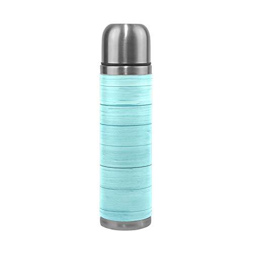 RELEESSS Thermos sous vide en bois Motif bois Tasse de voyage isotherme Bouteille d'eau pour boissons chaudes et froides 500 ml
