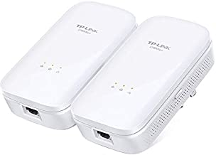 TP-Link AV1200 Gigabit Powerline ethernet Adapter kit, Powerline speeds up to 1200Mbps (TL-PA8010 KIT) (Renewed)