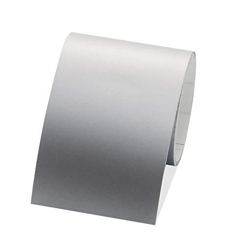 Bordüre selbstklebend, 4cm breit & 5m lang, 1 Rolle für die Wand in Wohnzimmer & Schlafzimmer (Silber)