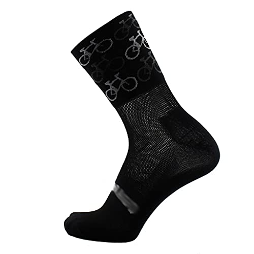 ZSQAW Unisex Transpirable Secado rápido Nylon Montando Ciclismo Calcetines Deportes Calcetines de Baloncesto Calcetines de fútbol para Hombres y Mujeres (Color : A)