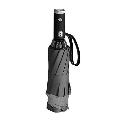 Paraguas plegable con linterna LED y tira reflectante, sombrilla portátil para viajes,...