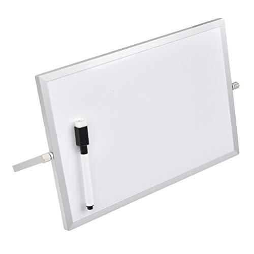 Pizarra de escritorio con soporte, pizarra de borrado en seco magnética, pizarra de escritorio de doble cara portátil, pizarras pequeñas, mini pizarra para cocina, oficina, hogar