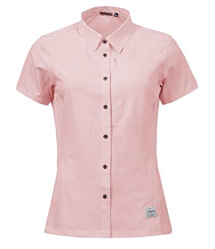 Icepeak Damen Damen Bluse Wanderhemd 3-54 683 518, Farbe:Rosa, Größe:38, Artikel:-610 Light pink