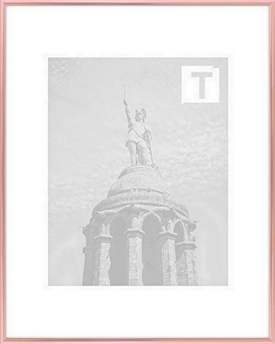 schmale Bilderrahmen Kollektion 20 x 30 cm abgerundet modern elegant 30x20 cm Hier Kimberly Kupfer mit Acrylglas Antireflex 2 mm