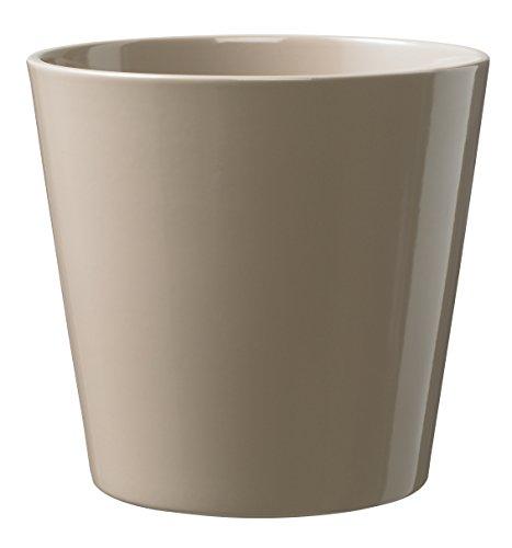 Soendgen Cache-Pot de Fleurs en céramique, Dallas Style, Argile, Taupe, 28 x 28 x 27 cm