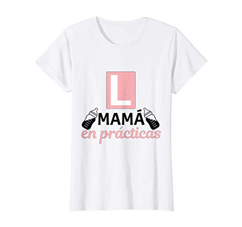 Mujer Mamá en Prácticas Divertida Futura Mamá Anuncio Embarazadas Camiseta