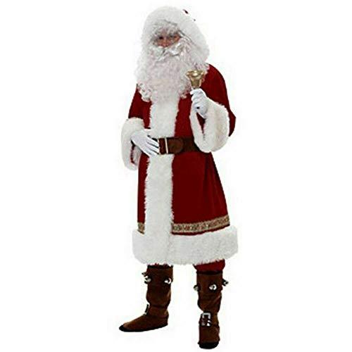 vpuquuz Costume da Babbo Natale Uomo Adulto Vestito da Babbo Natale in Peluche Babbo Natale Costume in Costume Cosplay Vestito da Festa (Style 3, XL)