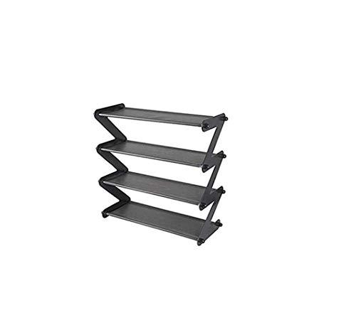 Schuhregale 3-Stufiges Schuhregal Herren Damenschuhe Regal Z-Förmiges Schuhregal Einfache Montage Ohne Werkzeug (Farbe: Pink),Schwarz,A