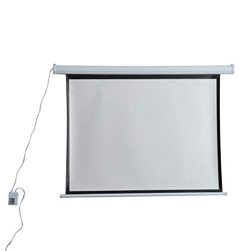Schermo di Proiezione 120 Pollici Motorizzato Home Cinema Bianco