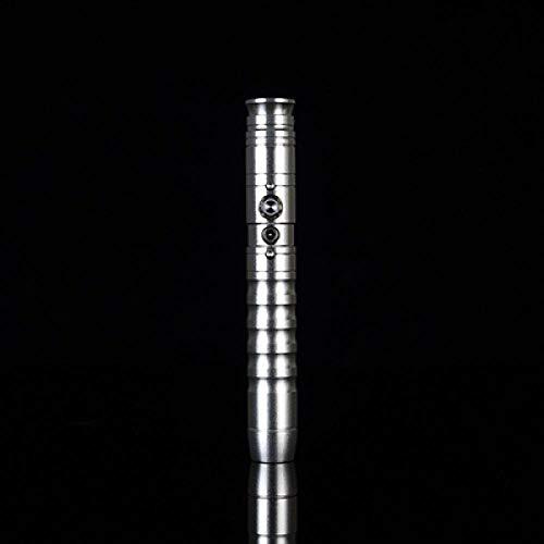 Sable de luz Rgb para colorear juego Luke Skywalker sable láser Jedi Sith Force Fx Duel Sound High Gift. Plata