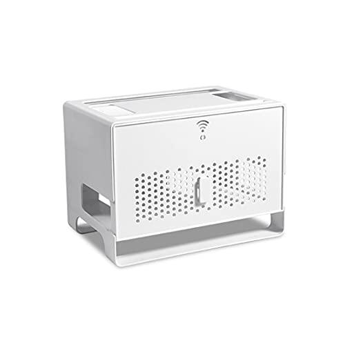 XXSLY Caja de Almacenamiento enrutador inalámbrico de Escritorio, Soporte de enrutador WiFi, para Escritorio, hubo y Oficina Hub USB, y Enchufe eléctrico Cable de enrutador de Cable de Alambre